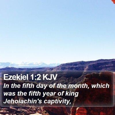Ezekiel 1:2 KJV Bible Verse Image