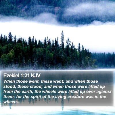 Ezekiel 1:21 KJV Bible Verse Image