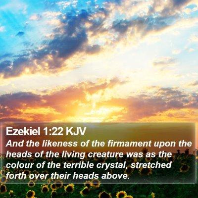 Ezekiel 1:22 KJV Bible Verse Image