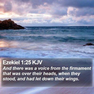 Ezekiel 1:25 KJV Bible Verse Image