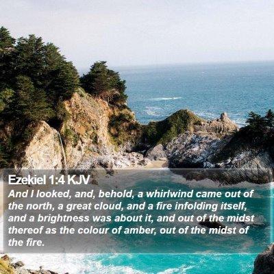 Ezekiel 1:4 KJV Bible Verse Image