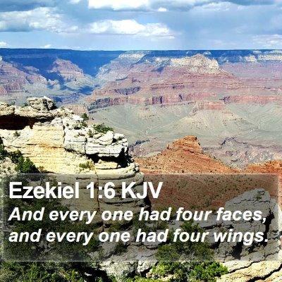 Ezekiel 1:6 KJV Bible Verse Image