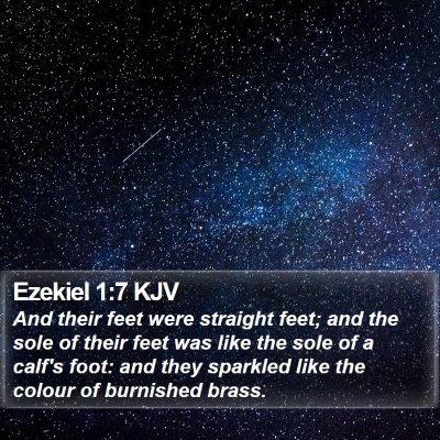 Ezekiel 1:7 KJV Bible Verse Image