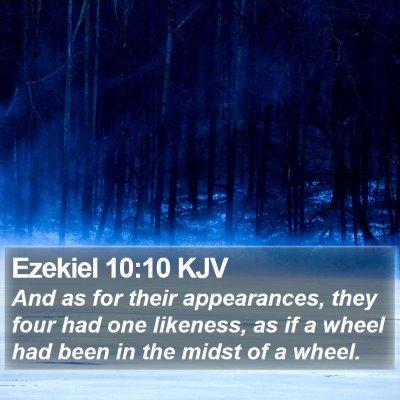 Ezekiel 10:10 KJV Bible Verse Image