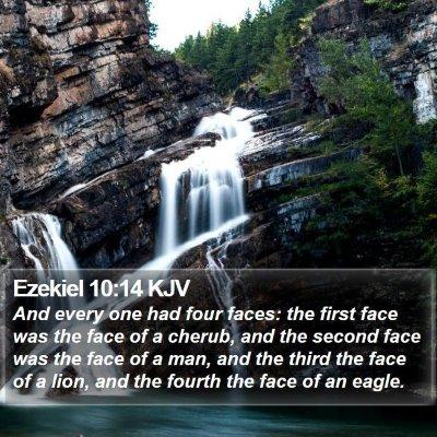 Ezekiel 10:14 KJV Bible Verse Image
