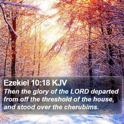 Ezekiel 10:18 KJV Bible Verse Image