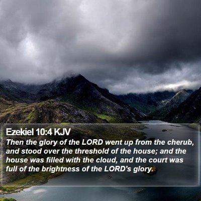 Ezekiel 10:4 KJV Bible Verse Image
