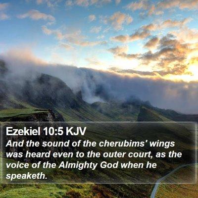 Ezekiel 10:5 KJV Bible Verse Image
