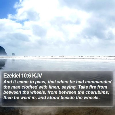 Ezekiel 10:6 KJV Bible Verse Image