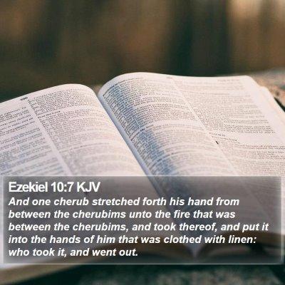 Ezekiel 10:7 KJV Bible Verse Image
