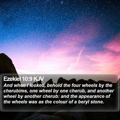 Ezekiel 10:9 KJV Bible Verse Image