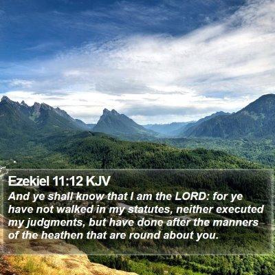 Ezekiel 11:12 KJV Bible Verse Image