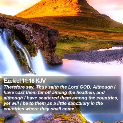 Ezekiel 11:16 KJV Bible Verse Image