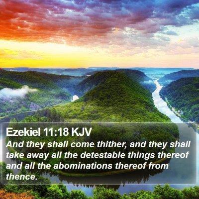 Ezekiel 11:18 KJV Bible Verse Image