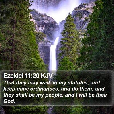Ezekiel 11:20 KJV Bible Verse Image