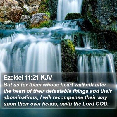 Ezekiel 11:21 KJV Bible Verse Image