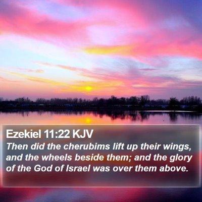 Ezekiel 11:22 KJV Bible Verse Image