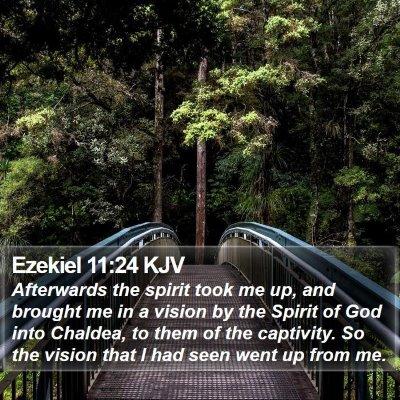 Ezekiel 11:24 KJV Bible Verse Image