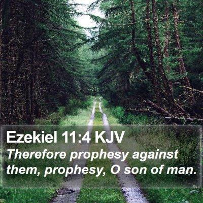 Ezekiel 11:4 KJV Bible Verse Image