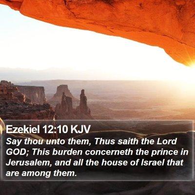 Ezekiel 12:10 KJV Bible Verse Image
