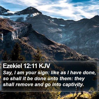 Ezekiel 12:11 KJV Bible Verse Image