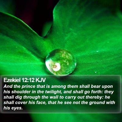 Ezekiel 12:12 KJV Bible Verse Image