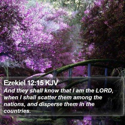 Ezekiel 12:15 KJV Bible Verse Image