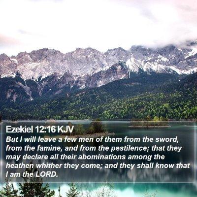 Ezekiel 12:16 KJV Bible Verse Image
