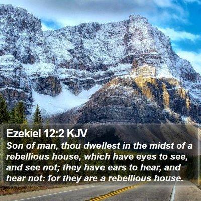 Ezekiel 12:2 KJV Bible Verse Image