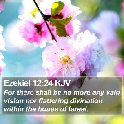 Ezekiel 12:24 KJV Bible Verse Image