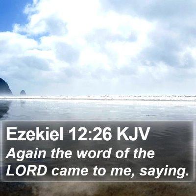 Ezekiel 12:26 KJV Bible Verse Image