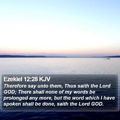 Ezekiel 12:28 KJV Bible Verse Image