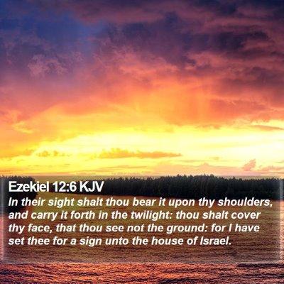 Ezekiel 12:6 KJV Bible Verse Image