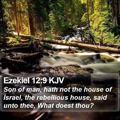 Ezekiel 12:9 KJV Bible Verse Image