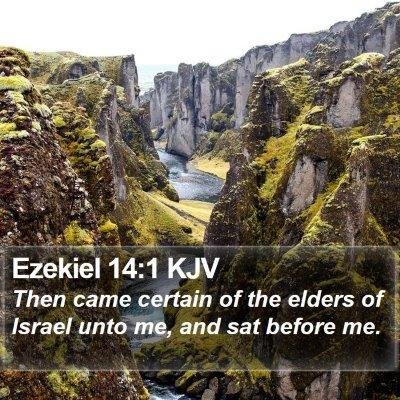 Ezekiel 14:1 KJV Bible Verse Image