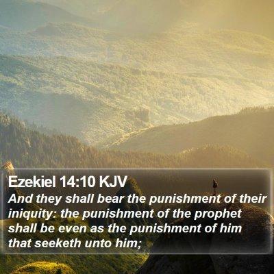 Ezekiel 14:10 KJV Bible Verse Image
