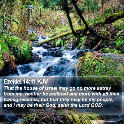 Ezekiel 14:11 KJV Bible Verse Image