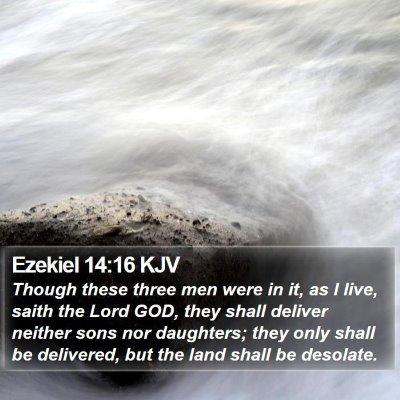 Ezekiel 14:16 KJV Bible Verse Image