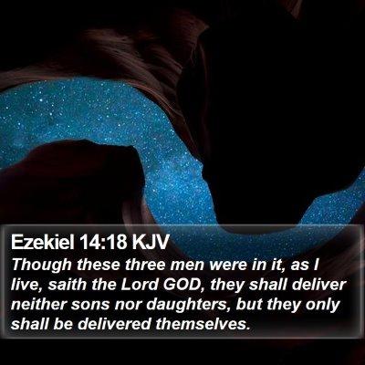 Ezekiel 14:18 KJV Bible Verse Image