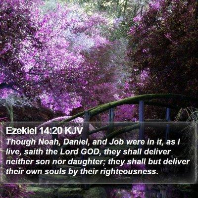 Ezekiel 14:20 KJV Bible Verse Image