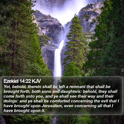 Ezekiel 14:22 KJV Bible Verse Image