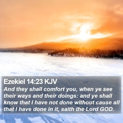 Ezekiel 14:23 KJV Bible Verse Image