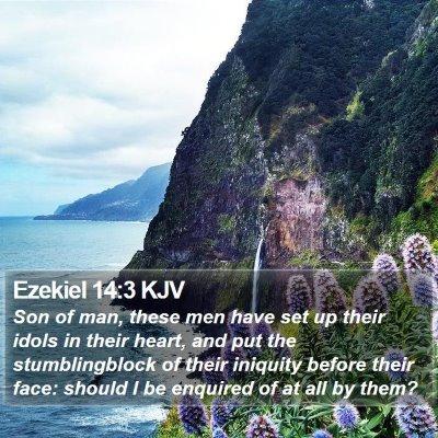 Ezekiel 14:3 KJV Bible Verse Image