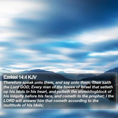 Ezekiel 14:4 KJV Bible Verse Image