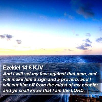 Ezekiel 14:8 KJV Bible Verse Image