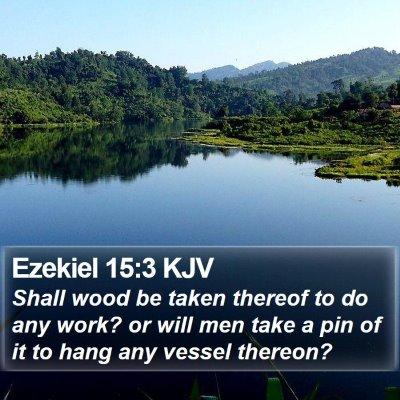 Ezekiel 15:3 KJV Bible Verse Image