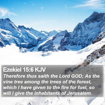 Ezekiel 15:6 KJV Bible Verse Image