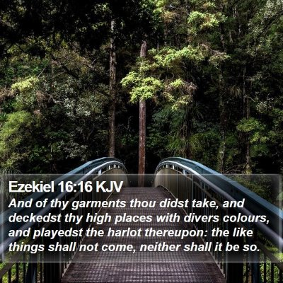 Ezekiel 16:16 KJV Bible Verse Image