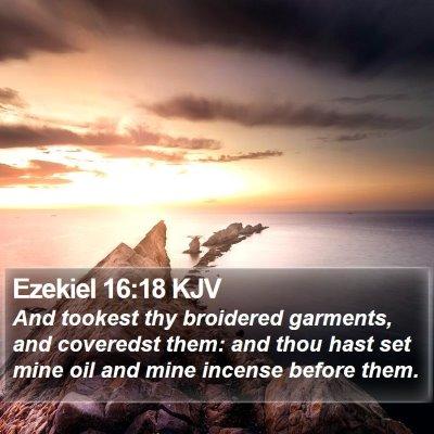 Ezekiel 16:18 KJV Bible Verse Image