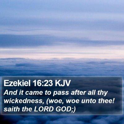 Ezekiel 16:23 KJV Bible Verse Image